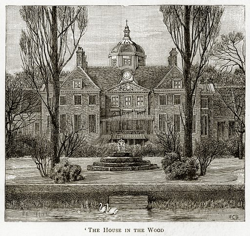 'The House in the Wood. Illustration from Pictures from Holland by Richard Lovett (Religious Tract Society, 1887).