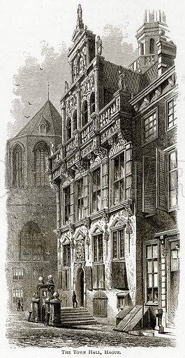 The Town Hall, Hague. Illustration from Pictures from Holland by Richard Lovett (Religious Tract Society, 1887).
