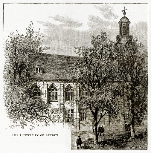 The University of Leyden. Illustration from Pictures from Holland by Richard Lovett (Religious Tract Society, 1887).