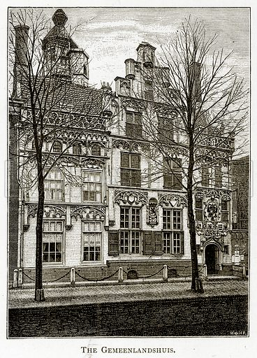 The Gemeenlandshuis. Illustration from Pictures from Holland by Richard Lovett (Religious Tract Society, 1887).