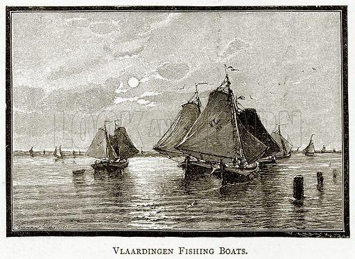Vlaardingen Fishing Boats. Illustration from Pictures from Holland by Richard Lovett (Religious Tract Society, 1887).