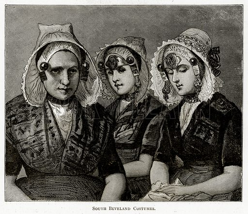 South Beveland Costumes. Illustration from Pictures from Holland by Richard Lovett (Religious Tract Society, 1887).