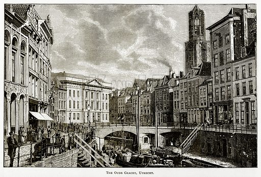 The Oude Gracht, Utrecht. Illustration from Pictures from Holland by Richard Lovett (Religious Tract Society, 1887).
