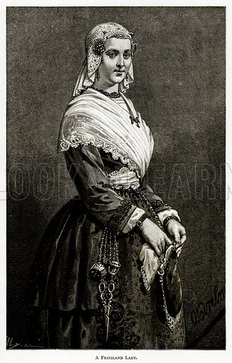 A Friesland Lady. Illustration from Pictures from Holland by Richard Lovett (Religious Tract Society, 1887).