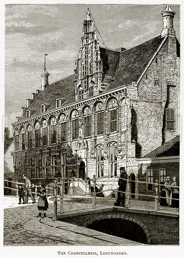 The Chancellerie, Leeuwarden. Illustration from Pictures from Holland by Richard Lovett (Religious Tract Society, 1887).