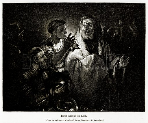 Peter Denies his Lord. Illustration from Pictures from Holland by Richard Lovett (Religious Tract Society, 1887).