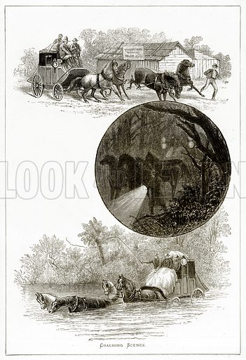 Coaching Scenes. Illustration from Pictures from Holland by Richard Lovett (Religious Tract Society, 1887).