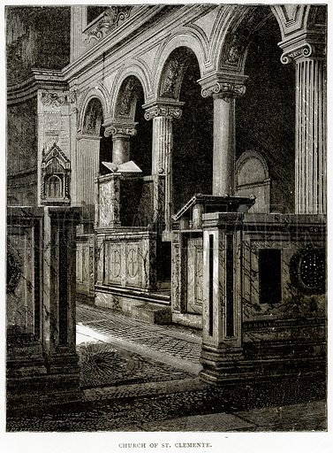 Church of St Clemente. Illustration from Italian Pictures by Samuel Manning (Religious Tract Society, c 1880).
