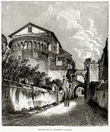 Church of SS. Giovanni E Paolo. Illustration from Italian Pictures by Samuel Manning (Religious Tract Society, c 1880).