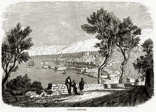 Castellamare. Illustration from Italian Pictures by Samuel Manning (Religious Tract Society, c 1880).