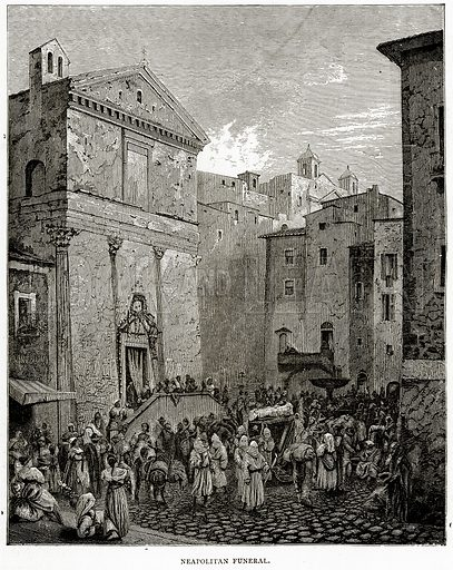 Neapolitan Funeral. Illustration from Italian Pictures by Samuel Manning (Religious Tract Society, c 1880).