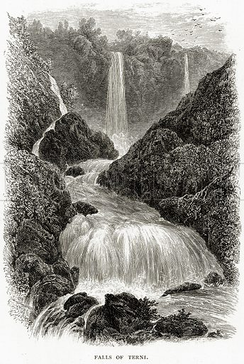 Falls of Terni. Illustration from Italian Pictures by Samuel Manning (Religious Tract Society, c 1880).