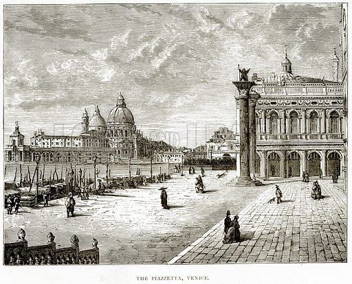The Piazzetta, Venice. Illustration from Italian Pictures by Samuel Manning (Religious Tract Society, c 1880).