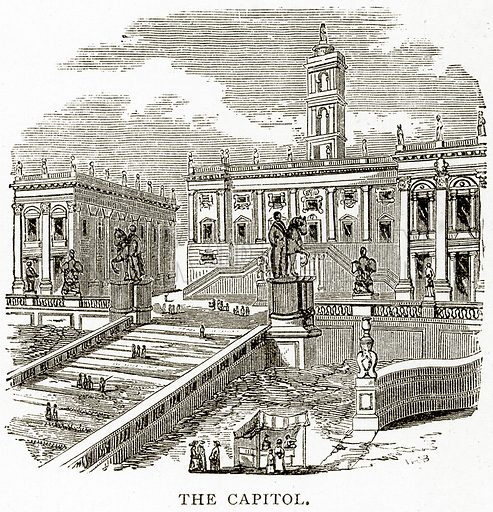 The Capitol. Illustration from Italian Pictures by Samuel Manning (Religious Tract Society, c 1880).