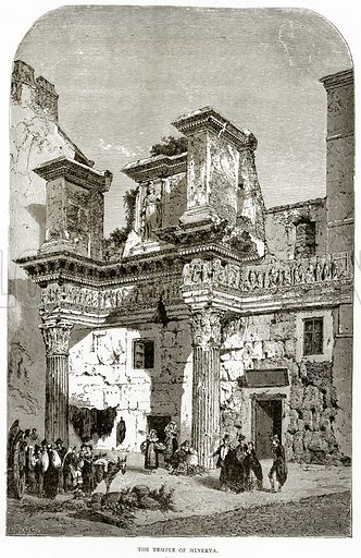 The Temple of Minerva. Illustration from Italian Pictures by Samuel Manning (Religious Tract Society, c 1880).