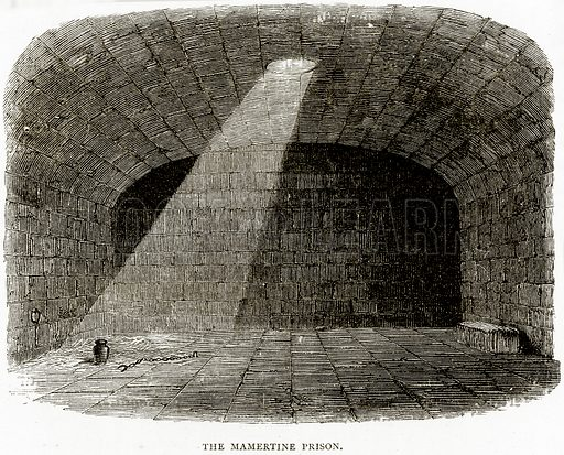 The Mamertine Prison. Illustration from Italian Pictures by Samuel Manning (Religious Tract Society, c 1880).