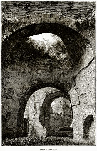 Baths of Caracalla. Illustration from Italian Pictures by Samuel Manning (Religious Tract Society, c 1880).