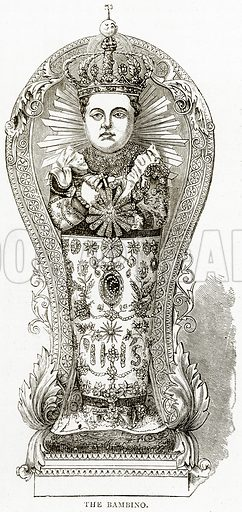 The Bambino. Illustration from Italian Pictures by Samuel Manning (Religious Tract Society, c 1880).