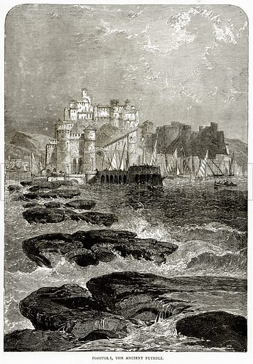 Pozzuoli, the Ancient Puteoli. Illustration from Italian Pictures by Samuel Manning (Religious Tract Society, c 1880).