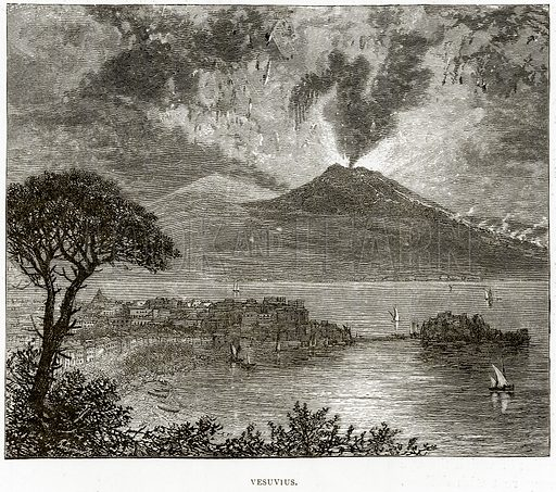 Vesuvius. Illustration from Italian Pictures by Samuel Manning (Religious Tract Society, c 1880).