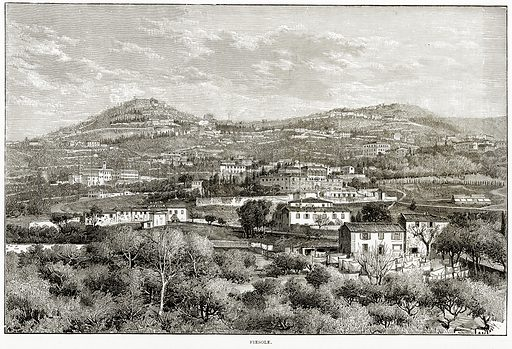 Fiesole. Illustration from Italian Pictures by Samuel Manning (Religious Tract Society, c 1880).