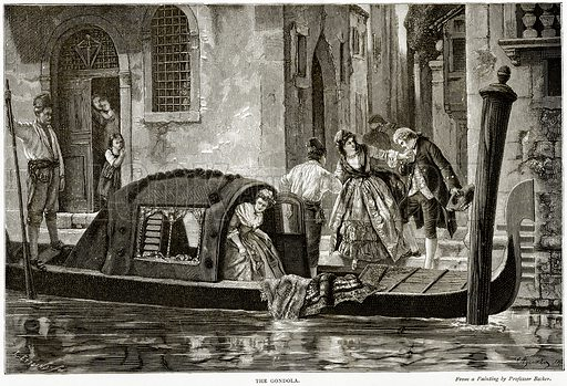The Gondola. Illustration from Italian Pictures by Samuel Manning (Religious Tract Society, c 1880).