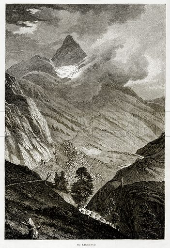 Piz Languard. Illustration from Swiss Pictures by Samuel Manning (Religious Tract Society, c 1870).
