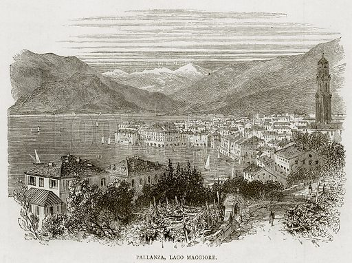 Pallanza, Lago Maggiore. Illustration from Swiss Pictures by Samuel Manning (Religious Tract Society, c 1870).