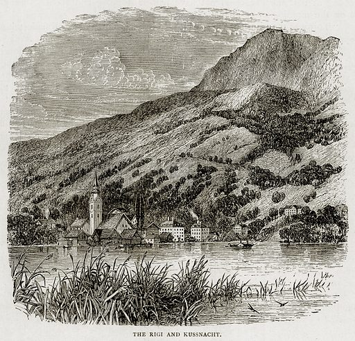 The Rigi and Kussnacht. Illustration from Swiss Pictures by Samuel Manning (Religious Tract Society, c 1870).