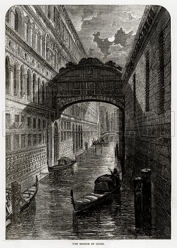 The Bridge of Sighs. Illustration from Swiss Pictures by Samuel Manning (Religious Tract Society, c 1870).