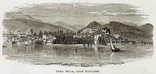 Isola Bella, Lago Maggiore. Illustration from Swiss Pictures by Samuel Manning (Religious Tract Society, c 1870).