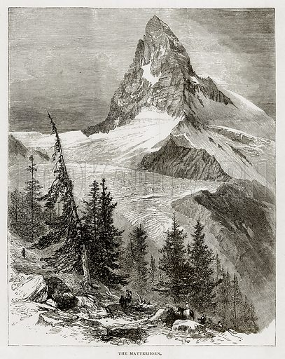 The Matterhorn. Illustration from Swiss Pictures by Samuel Manning (Religious Tract Society, c 1870).