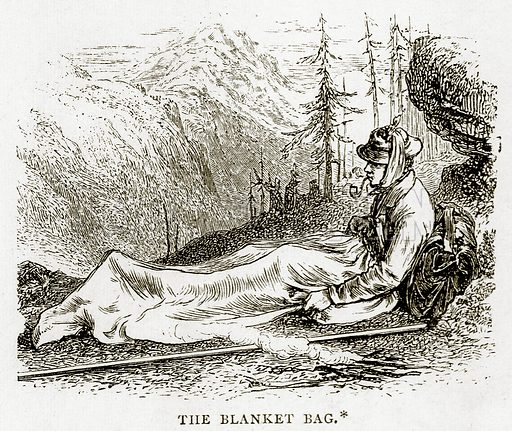 The Blanket Bag. Illustration from Swiss Pictures by Samuel Manning (Religious Tract Society, c 1870).