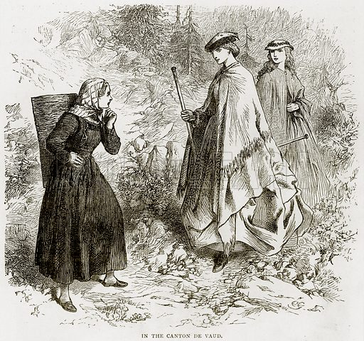 In the Canton de Vaud. Illustration from Swiss Pictures by Samuel Manning (Religious Tract Society, c 1870).
