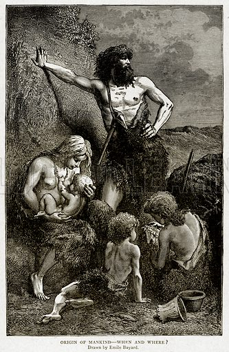 Origin of Mankind--When and where? Illustration from With the World