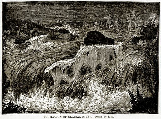 Formation of Glacial River. Illustration from With the World