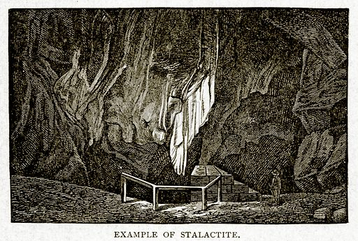 Example of Stalactite. Illustration from With the World