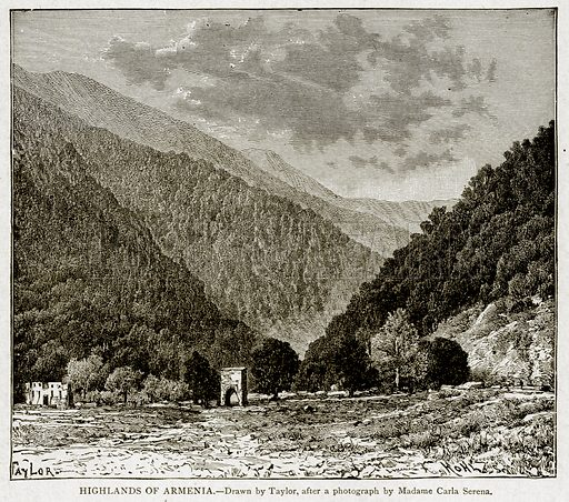 Highlands of Armenia. Illustration from With the World