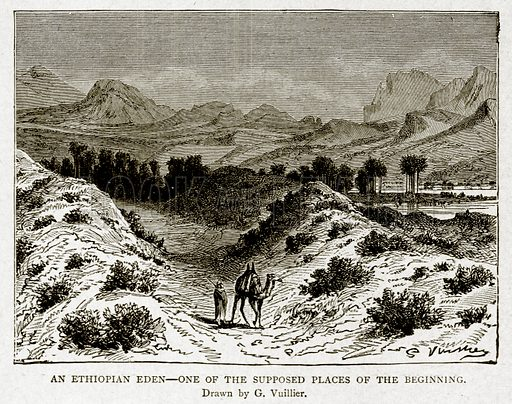 An Ethiopian Eden--One of the supposed places of the beginning. Illustration from With the World