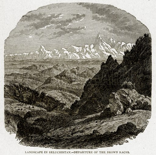 Landscape in Beluchistan.--Departure of the Brown Races. Illustration from With the World