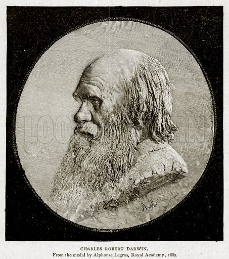 Charles Robert Darwin. Illustration from With the World