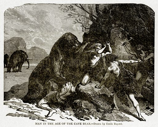 Man in the Age of the Cave Bear. Illustration from With the World