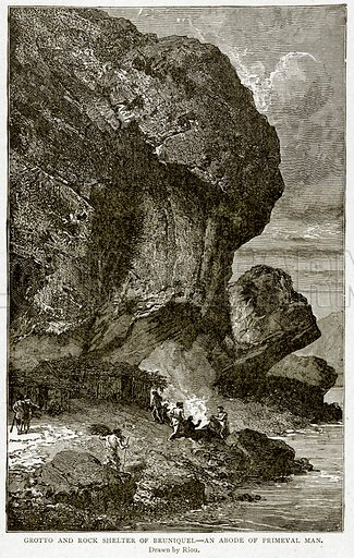 Grotto and Rock Shelter of Bruniquel-An Abode of Primeval Man. Illustration from With the World