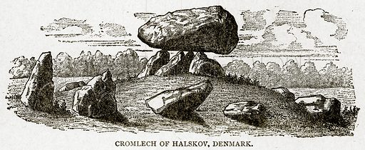 Cromlech of Halskov, Denmark. Illustration from With the World