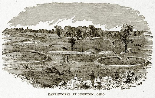 Earthworks at Hopeton, Ohio. Illustration from With the World