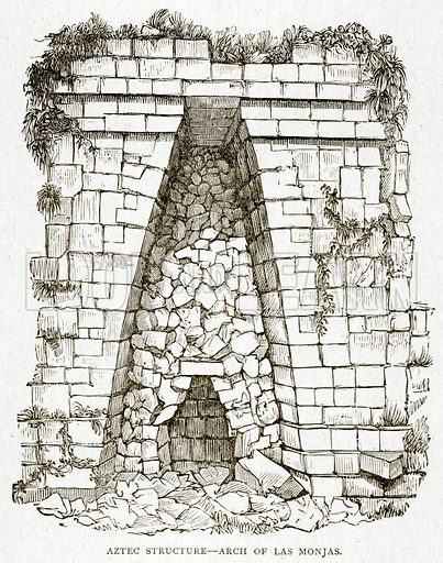 Aztec Structure--Arch of Las Monjas. Illustration from With the World