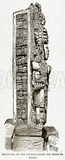 Sculpture of the Toltecs. Illustration from With the World