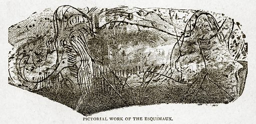 Pictorial Work of the Esquimaux. Illustration from With the World