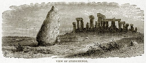 View of Stonehenge. Illustration from With the World