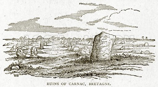 Ruins of Carnac, Bretagne. Illustration from With the World